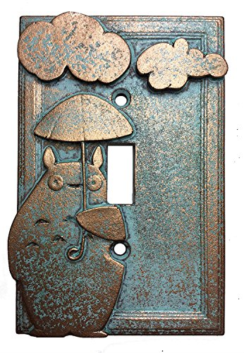 My Neighbor Totoro Light Switch Cover (Aged Patina) by Sci-Collectables
