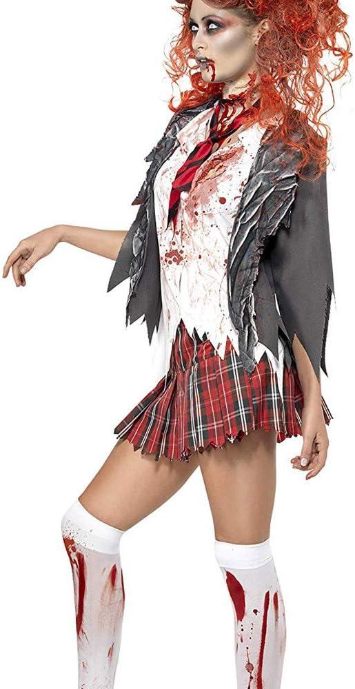 High School Horror Zombie Schoolgirl Costume Adult Women, Chaqueta ...
