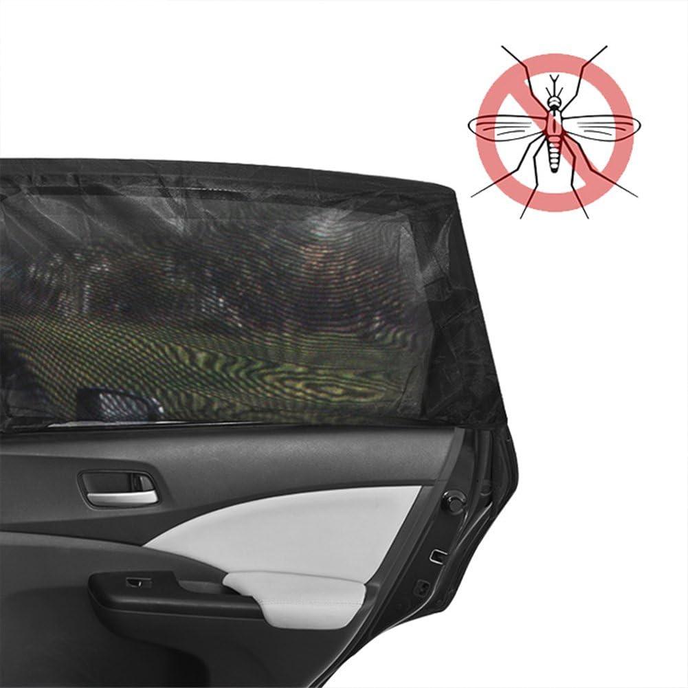 Large LYXMY 2 St/ück Auto Jalousien Sonnenschutz Fenster Moskitonabdeckungen blockieren UV-Strahlen Anti-Insektenschutz Staubdicht Mesh Screen Netz L