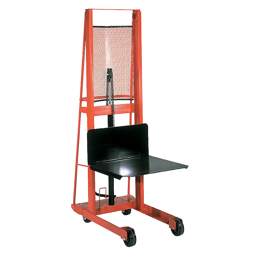 Wesco Straddle Fork Hydraulic Stacker - 25''Wx37''D - 56'' by Wesco