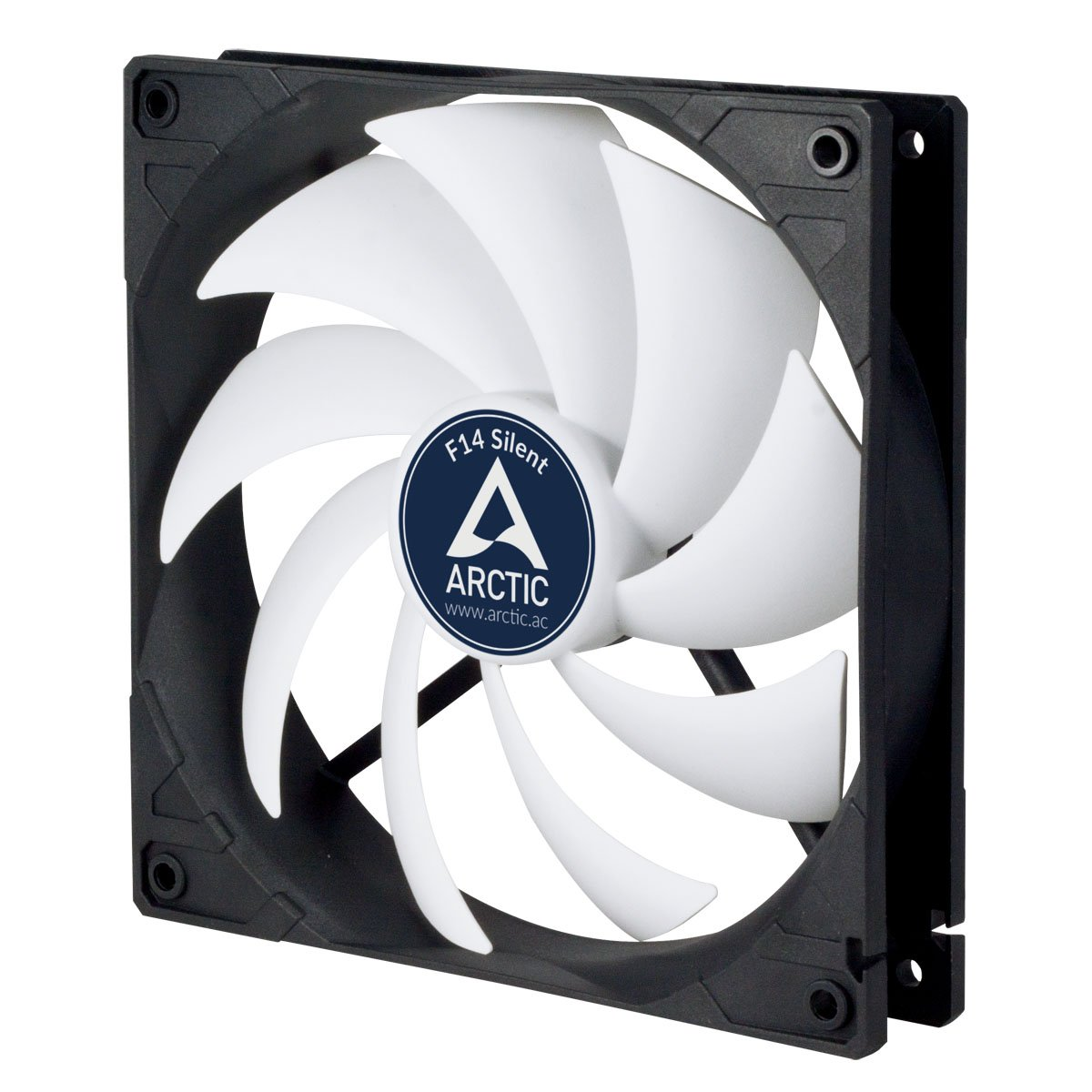 ARCTIC F14 Silent, Ultra Quiet 140 mm Case Fan, Virtually Silent Fan at 0.08 Sone, 3 –Pin Fan with Standard Case for Quiet and Efficient Ventilation