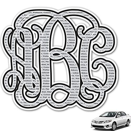 YouCustomizeIt Interlocking Monogram Monogram Car Decal (Personalized) ()