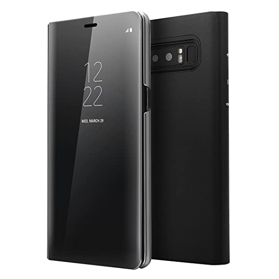 super popular caaa4 d1885 Galaxy Note 8 S-View Flip Case, AICase S View with Original Samsung Chip  Touch Screen Auto Sleep/Wake up Clear Mirrow View Kickstand Standing Case  for ...