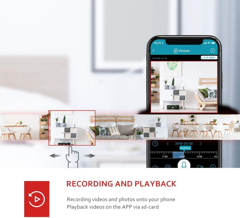 interne WiFi-Kamera Victure 1080P Babyphon IP-Kamera f/ür Kinder und Haustiere interne Kamera mit Nachtsicht und Bewegungserke.nnung mit bidirektionalem Ton