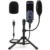 Micrófono USB Podcast PC, OMOTON Kit de Micrófono Condensador para Estudio, Grabación, YouTube, Streaming, Gaming, con…