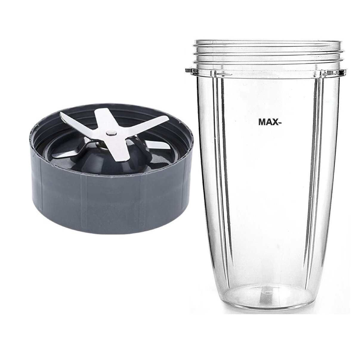 NutriBullet Compatible 32oz Cup & Blade Replacement Set - Tall Blender Cup & 6 Fin Extractor Blade Accessories