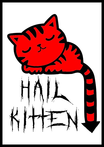 Image of: Vector Image Amazoncom New Color Comedy Paper Sticker Hail Kitten Satan Cute Cartoon Cat Devil Demon Evil 666 Everything Else Amazoncom Amazoncom New Color Comedy Paper Sticker Hail Kitten Satan Cute