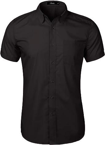 iClosam Men's Button Down Shirt Casual Dress Shirt with Pockets