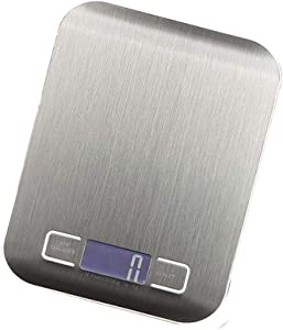 Kunze Digital Kitchen Scale, LCD Display, Electronic Food Scale for Cooking and Baking,Multifunctional, Stainless Steel