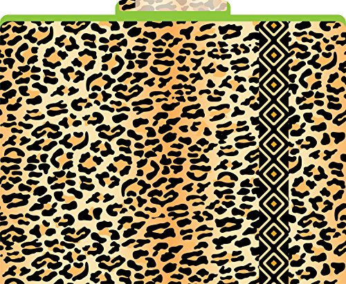 Barker Creek 1/3 Cut Tabs Reversible Letter-Size Fashion File Folders, 12-Count (LL-1320) (Leopard Reversible)