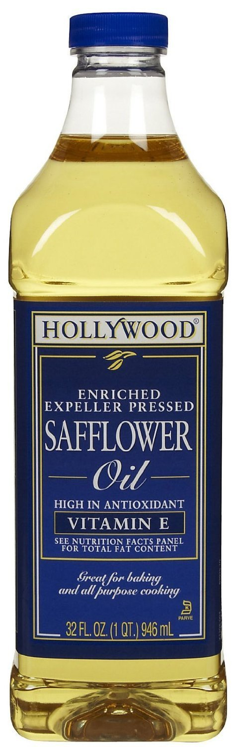 Hollywood Enriched Safflower Oil 32 oz - Pack of 6 by Hollywood