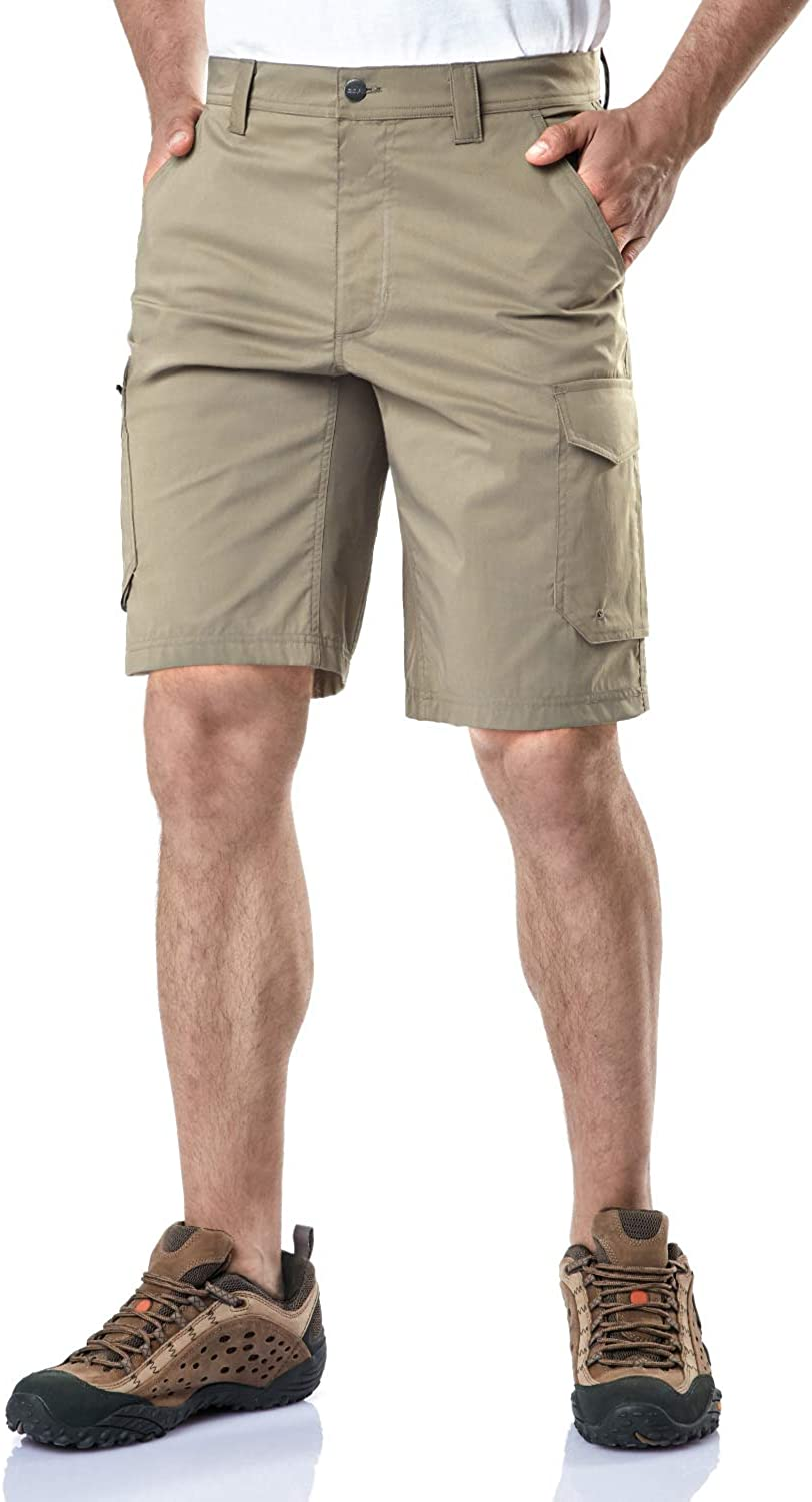 CQR Mens Hiking Tactical Shorts, Quick Dry Fishing Shorts, Lightweight Outdoor Rip-Stop EDC Assault Cargo Short