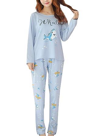 9bb9a7a5b1c6 Amazon.com  BAIYIXIN Soft Cotton Pajamas Big Girls Soft Comfy Cute ...