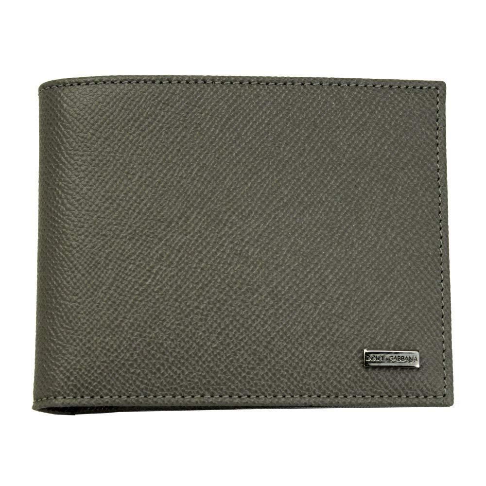 DOLCE&GABBANA(ドルチェ&ガッバーナ)二つ折り財布 メンズ レザー グレー系 内側ドット柄 BP0457 B1001 8X087[並行輸入品] B07NHTLLMW