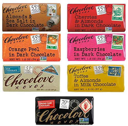 Chocolove, Chocolate Bars Variety Pack of 7-1.3 Ounce Each
