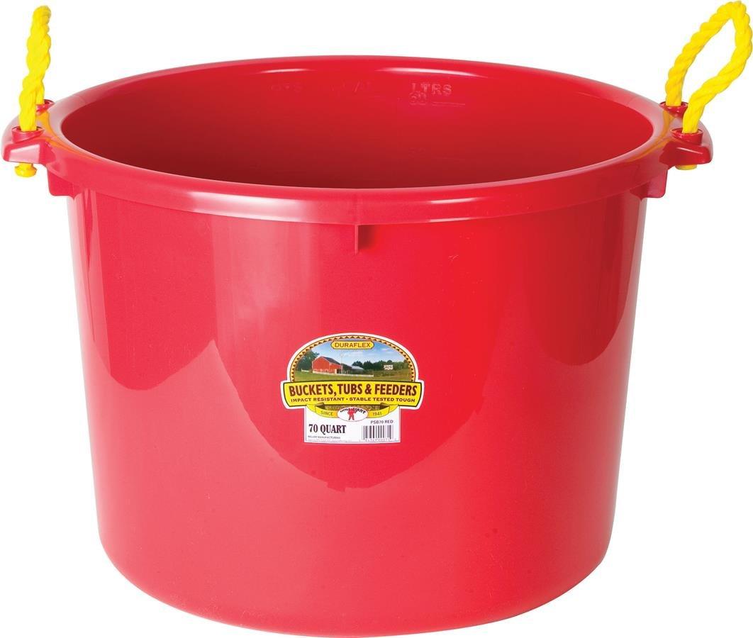 LITTLE GIANT MILLER CO Muck Tub, 70 quart, Red