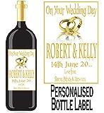 Eternal Design Personalised Wedding Day Wine/Spirit Bottle Label WDWL 19