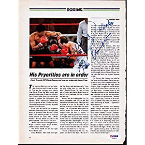 Alexis Arguello Authentic Autographed Signed Magazine Page Photo S47447 PSA/DNA Certified Autographed Boxing Magazines