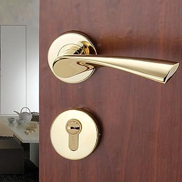 Daeou cerradura simple de acero inoxidable cubierta dividida cerraduras de las puertas de acero dormitorio bloqueo cerradura de la puerta de madera: ...