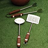 Charcoal Companion CC1043 Football 3-Piece Barbeque Tool Set
