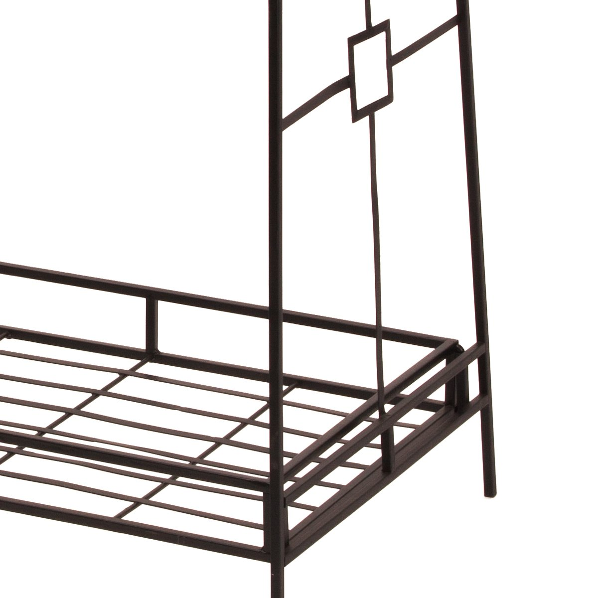 Panacea Products Forged 3-Tier Plant Stande Black