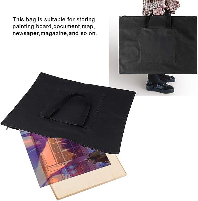 AYNEFY Painting Board Case Document Pocket for Storing Painting Board Document Map Newspaper Magazine Black Strap Adjustable Carry-on File Bag