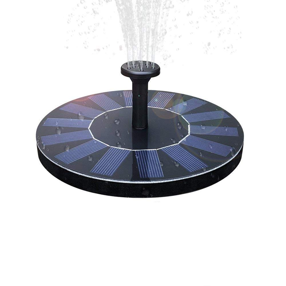 Langxian Solar Fountain,Freestanding 1.4W Solar Powered Bird Bath Water Floating Pump Kit for Garden,Patio,Fish Tank and Pond, Garden Decorations