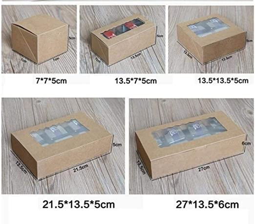 Caja de Regalo de Papel Kraft para Tartas, 20 Unidades, con ...