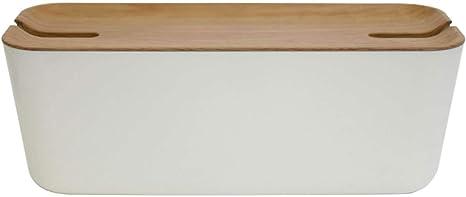 Bosign Hideaway Kabelbox Und Ladestation Kabelorganisator Hideaway Material Dekoratives Aussehen In Weiß Natur X Large Küche Haushalt