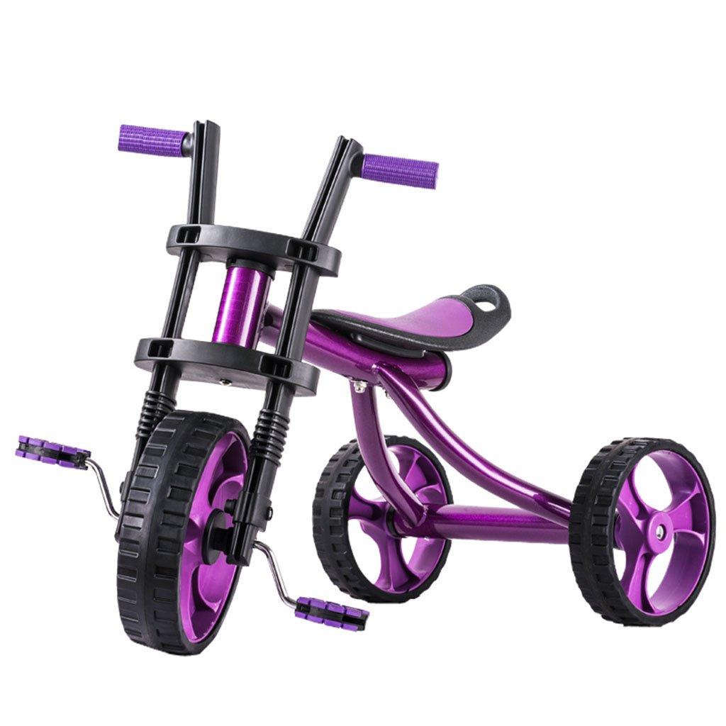 子供用自転車、子供用三輪車子供用赤ちゃん用キャリッジ子供用自転車 B07CHBL66J パープル ぱ゜ぷる パープル ぱ゜ぷる