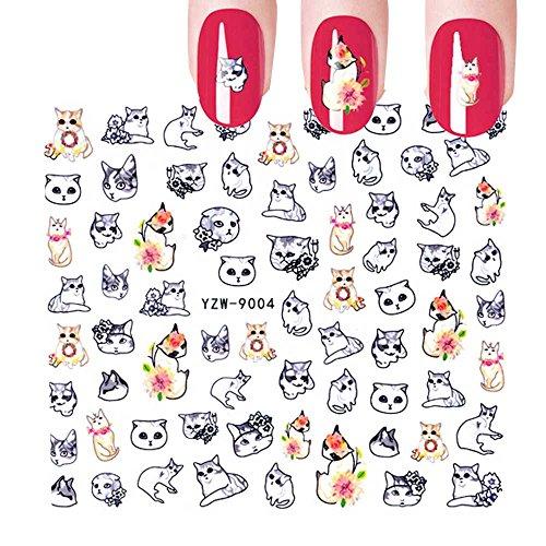 (HCFKJ Nail Art Stamper Gel Tips DIY Stamping Drawing Image Template Stickers B)