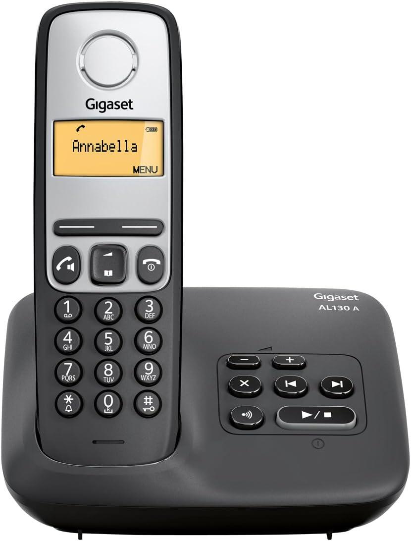 Gigaset AL130A - Teléfonos inalámbricos con contestador y pantalla LCD, color negro [Versión Importada]: Amazon.es: Electrónica