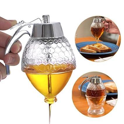 9b5fd5db447a Amazon.com: Acrylic Honey Dispenser Easy Refill Mechanical Trigger ...
