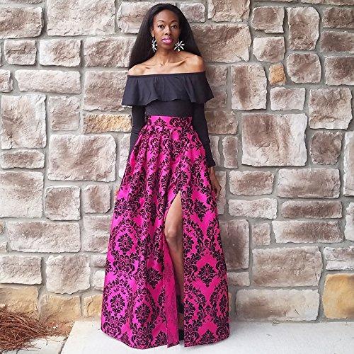 Pink Damask Satin Taffeta Ball Skirt - Any Height by BallSkirts
