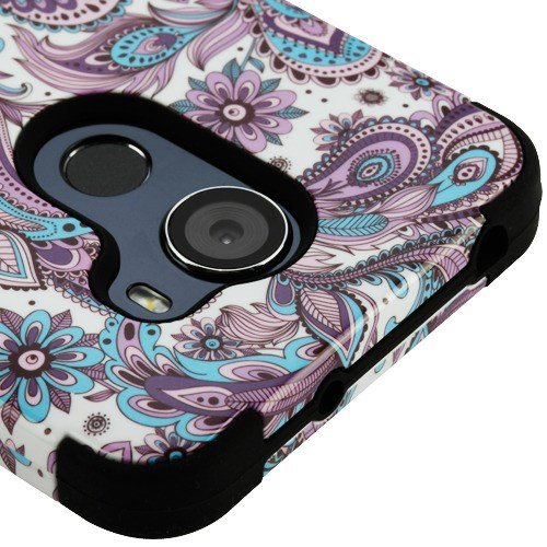 Fit Alcatel 7 Case/Tmobile Revvl 2 Plus Phone Cover Phonelicious Military Grade Shockproof Hybrid Rugged Accessory with Screen Protector Compatible w/ 6062W (Purple Paisley)