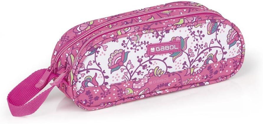 Estuche Doble Gabol Magic Rosa: Amazon.es: Oficina y papelería