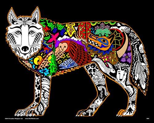 Wolf - 16x20 Fuzzy Velvet Inner Nature Coloring Poster]()