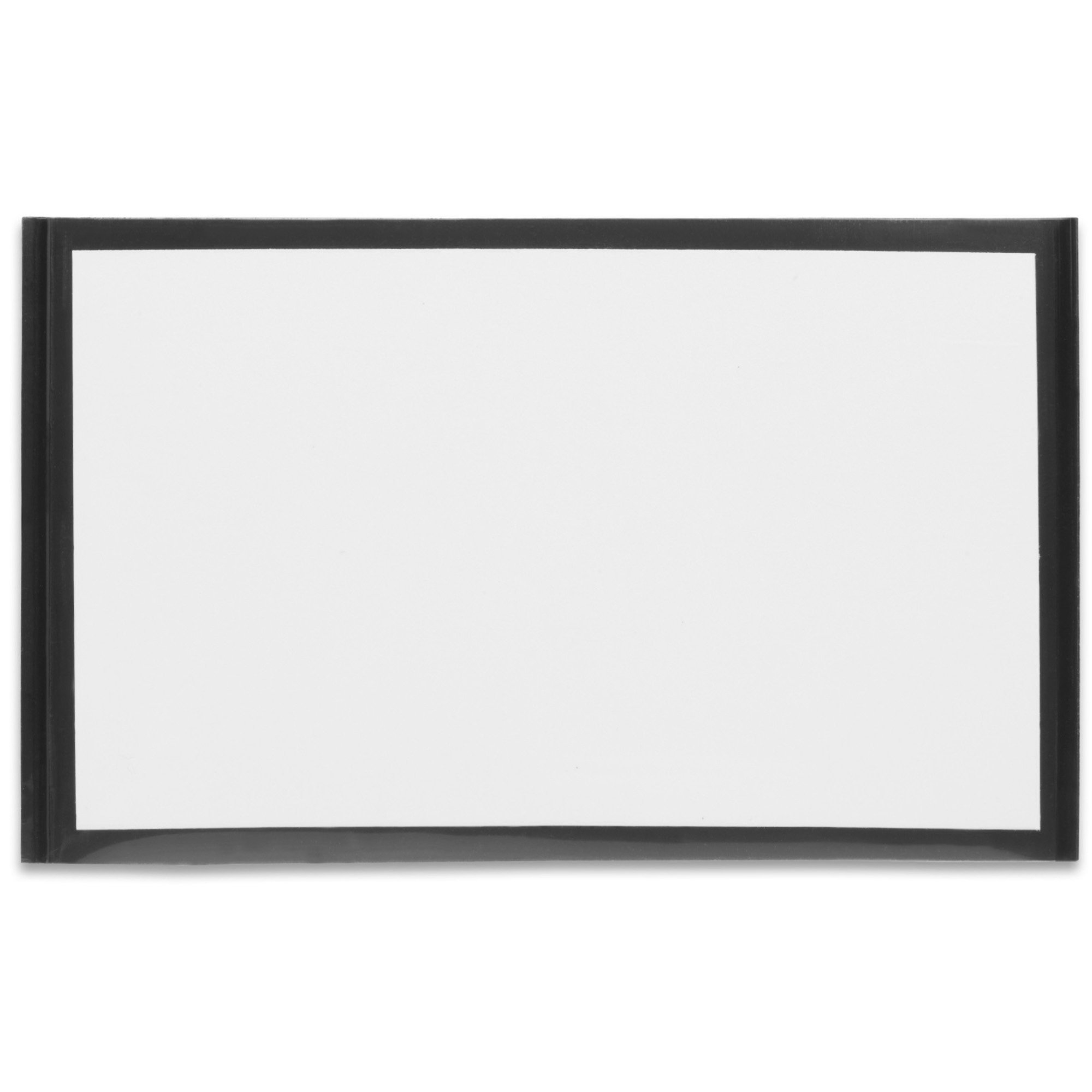Tatco Magnetic Label Holders, 3 3/8in. x 5 3/8in, Black/White, Pack Of 10