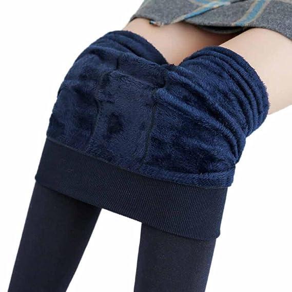 Leggings de pijama,Morwind cachemira leggins mujer medias gruesas pantalon elastico mujer pantalón leggings de