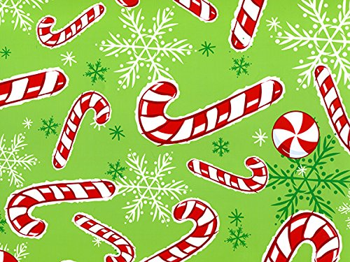 Peppermint Snowflakes 24''x417' by Nas