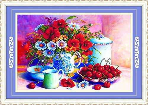 Starlit 71528 - Summer Flower DIY 3D Diamond Painting Rhinestone Embroidery Kit Mosaic Painting Size 71x50 cm (28x20 inch) ()