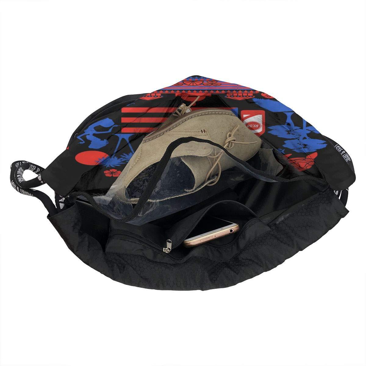 Puerto Rico Icon Drawstring Bag Multifunctional String Backpack Custom Cinch Backpack Rucksack Gym Bag