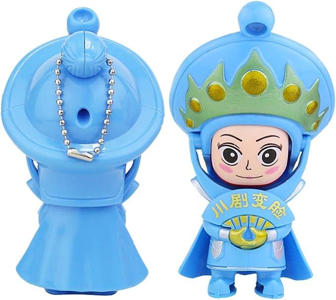 Toyvian 2 Pcs Chinois Folk Op/éra Poup/ée Sichuan Visage Poup/ée Masque Changer Poup/ée Figure Jouet De Bureau D/écoratif Ornements Statue Souvenir