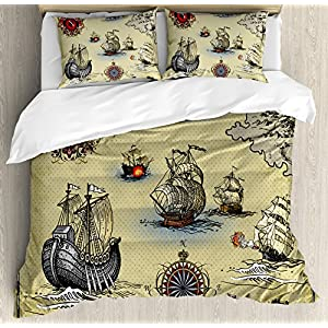 61rpGCxV6gL._SS300_ 100+ Nautical Duvet Covers and Nautical Coverlets For 2020