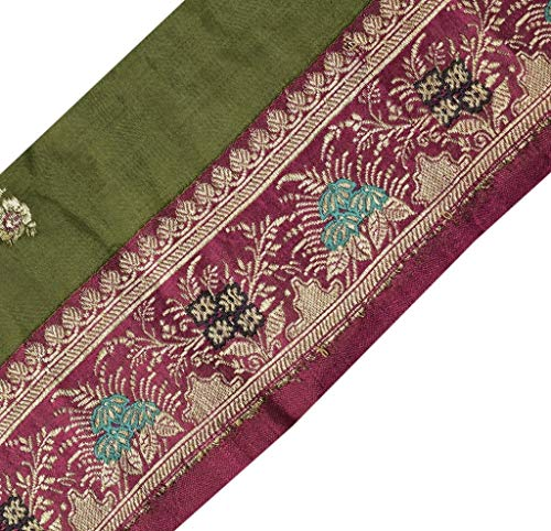 Vintage Saree Sewing Trim Indian Craft Border Woven Banarasi Brocade - Silk Brocade Border