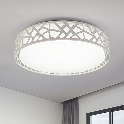 TOYM- Blanco Ronda Moderno techo minimalista Dormitorio Sala de estar Comedor Estudio lámpara LED (Color : 30WLED White)