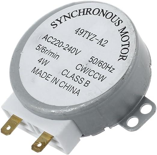 SODIAL(R) AC 220-240V 50 / 60Hz 5 / 6RPM 4W Motor sincrono de la ...