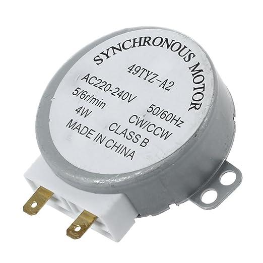 Cikuso AC 220-240V 50 / 60Hz 5 / 6RPM 4W Motor sincrono de la Plataforma giratoria para el Horno de microonda