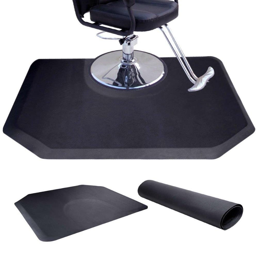 Anti Fatigue Black Hair Stylist Mat Beauty Salon Equipment Barber Floor Matt