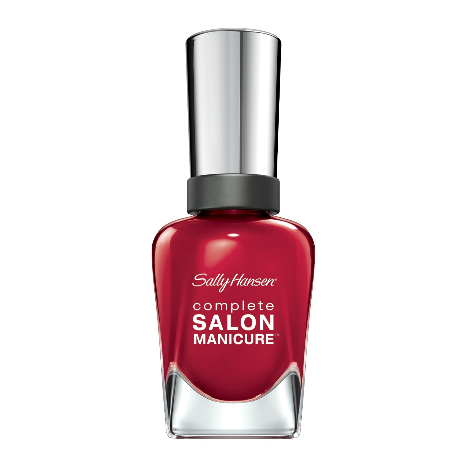 Sally Hansen Complete Salon Manicure Nail Polish, Red My Lips, 0.5 Fluid Ounce